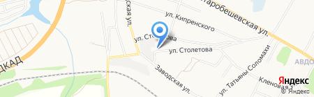 Заводской на карте Донецка