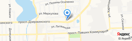 Коллективное предприятие гаражного и технического обслуживания на карте Донецка