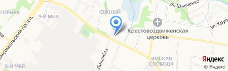 Аварийно-диспетчерская служба на карте Старого Оскола