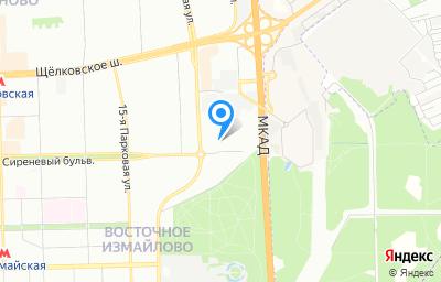 Местоположение на карте пункта техосмотра по адресу г Москва, б-р Сиреневый, д 83