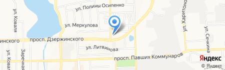 Игнат на карте Донецка