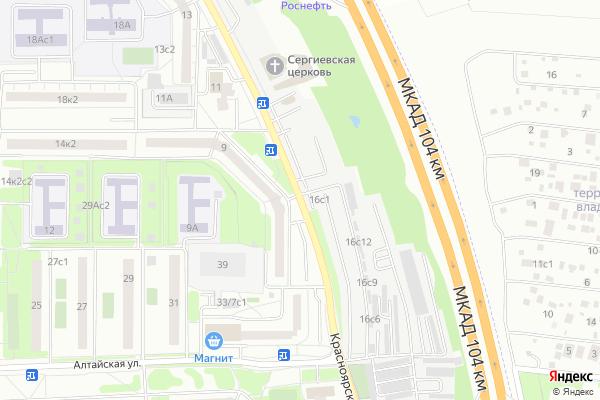 Ремонт телевизоров Улица Красноярская на яндекс карте