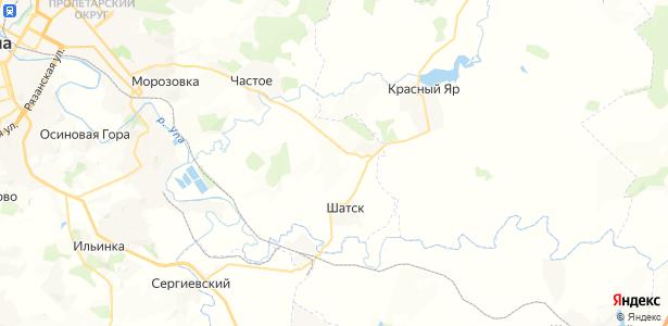 Тёплое на карте