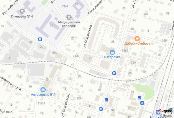 жилой комплекс Островского 20