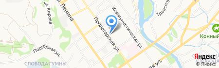 Автосервис на ул. Пролетарская на карте Старого Оскола