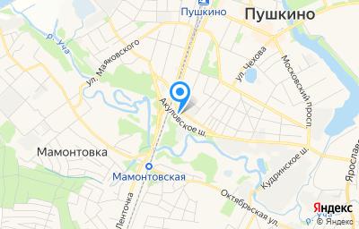 Местоположение на карте пункта техосмотра по адресу Московская обл, г Пушкино, ул Учинская, д 6В, пом 1
