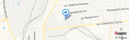 Спецавтотехника на карте Донецка
