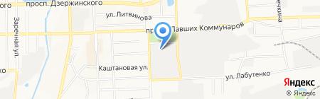 КРЕДО на карте Донецка