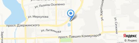 Аванти на карте Донецка