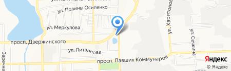 Кронтекс на карте Донецка