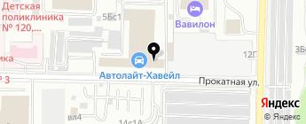 Автолайт на карте Москвы