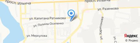 Радужный на карте Донецка