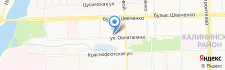 Эколес на карте Донецка