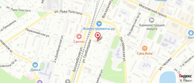 Карта расположения пункта доставки СИТИЛИНК в городе Пушкино