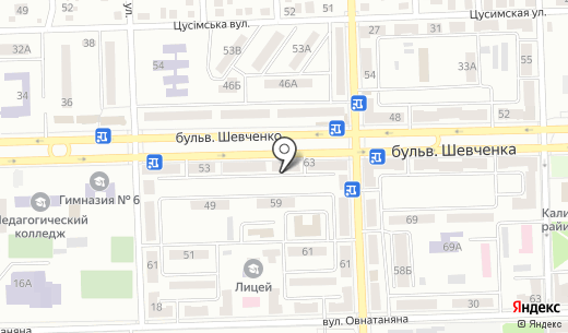 Керама микс. Схема проезда в Донецке