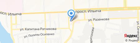 Аквабуд на карте Донецка