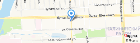Mikrosha на карте Донецка