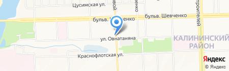 Актив Ком на карте Донецка