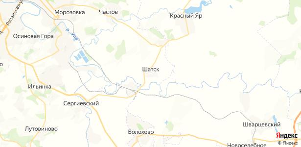 Шатск на карте