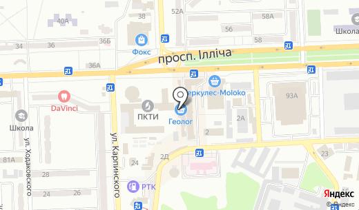 Ковбасна хатинка. Схема проезда в Донецке