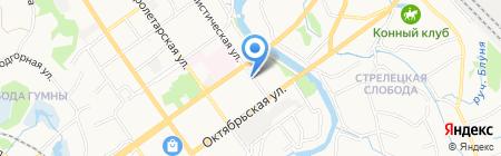 Альфа Сталь-РДО на карте Старого Оскола