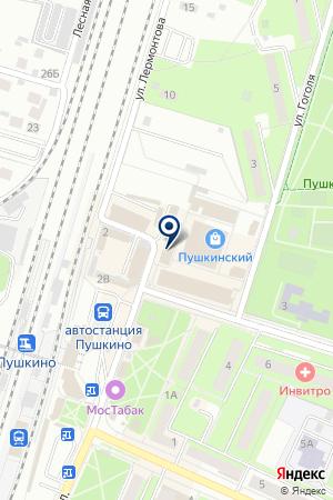 МАГАЗИН МЕБЕЛЬ БРВ на карте Пушкино