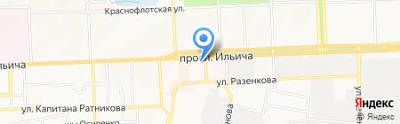 Валсир на карте Донецка