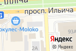 Схема проезда до компании А1 в Донецке