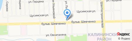 Эллипс на карте Донецка