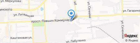 Romaks на карте Донецка