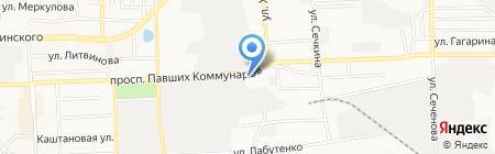 Аква-техно на карте Донецка