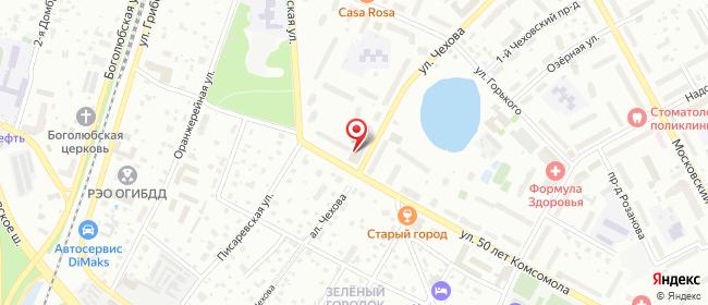 Карта расположения пункта доставки Пушкино Чехова в городе Пушкино