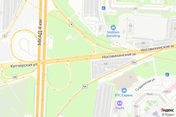 Ремонт телевизоров Носовихинское шоссе на яндекс карте