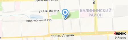 ВиС на карте Донецка