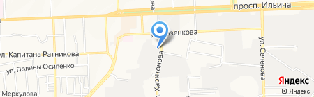 Деловая линия на карте Донецка