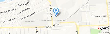 Донбасс-маркет групп на карте Донецка