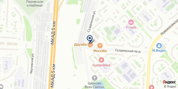 ЮНИСТРИМ на карте Москве