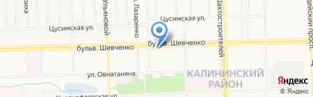 РАДІУС на карте Донецка