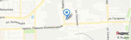 Атлант на карте Донецка