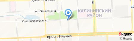 Корнер-М на карте Донецка