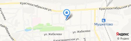 Асат на карте Донецка