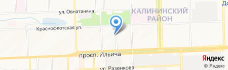 УКРСПЛАВ на карте Донецка