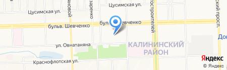 ОЩАДБАНК ПАО на карте Донецка