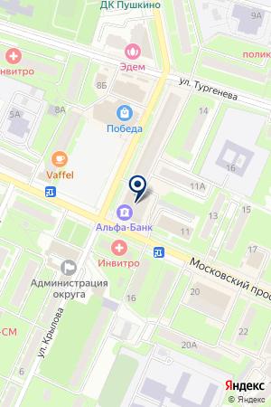 ПРОДОВОЛЬСТВЕННЫЙ МАГАЗИН АЛОР на карте Пушкино
