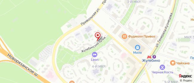 Карта расположения пункта доставки Москва Жулебинский в городе Москва