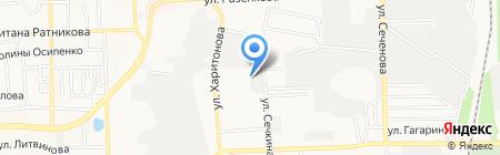Термотрон на карте Донецка
