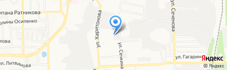 Росич на карте Донецка