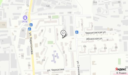 Киоск по ремонту обуви. Схема проезда в Донецке
