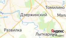 Гостиницы города Дзержинский на карте