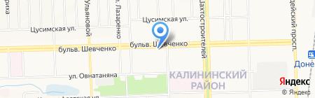 DonCityСтрой на карте Донецка